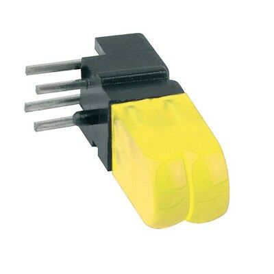 1x 1803.7732 Diode LED in housing THT yellow 25-50mcd 100° Front convex MENTOR