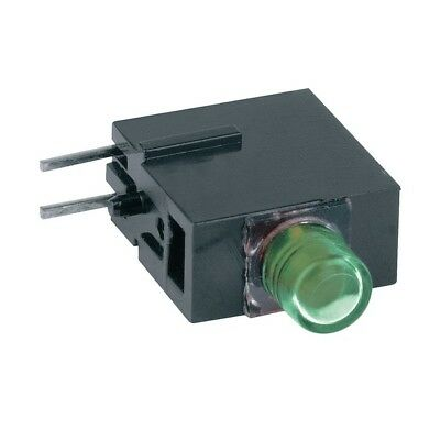 1x 1808.8035 Diode LED in housing 3mm THT green 10-20mcd 40° Front MENTOR
