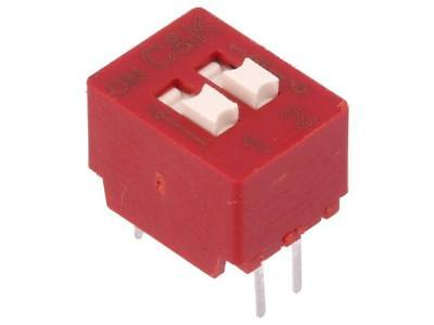 BD02 Switch DIP-SWITCH Poles number2 OFF-ON 0.025A/25VDC 1GΩ