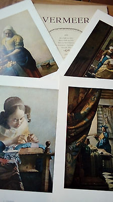 4 reproductions JAN VERMEER, points Soubry farde nr 10