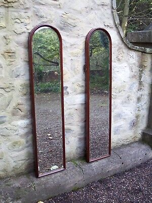 Antique arched framed mirrors