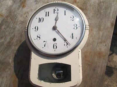 A Enfield Kitchen Wall Clock Metal Cased Type With Chrome Pendulum Bob
