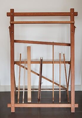 Very large, wood, vintage, weaving loom