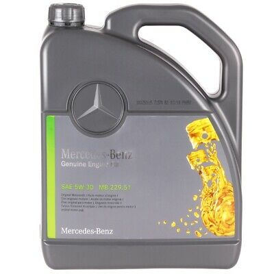 5 Liter Original Mercedes Synthetic Motoröl Ölwechsel 5w30 MB 229.51 A000989701
