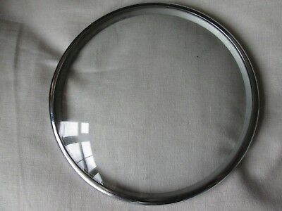 A Chrome Mantel Clock Bezel With Its Convex Glass A Pin On Type