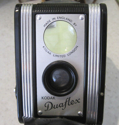 Vintage 1940s/50s Kodak Duaflex Box Camera With Case And Boxed Close Up Lens