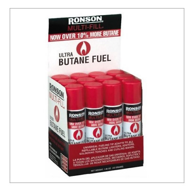 WHOLESALE RONSON Multi-Fill Ultra BUTANE Fuel 1.48 oz=42g (12ct/ Bundle)