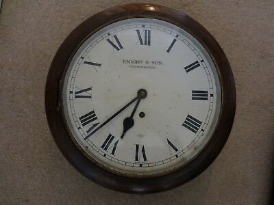 "Vintage School/station Clock. 12"" Dial By Knight & Son Northampton"