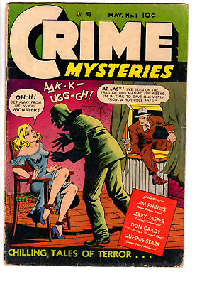 Crime Mysteries # 1 (GD/VG 3.0) 1952  Classic GGA cover, Ribage Publishing