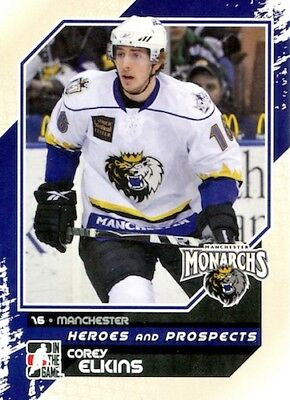 2010-11 Heroes and Prospects #123 Corey Elkins Grizzlys Wolfsburg DEL Manchester