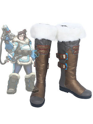 Overwatch OW Pioneer 76 Soldier Mei Cosplay Boots Shoes Custom Made