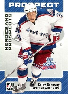 2006-07 Heroes and Prospects #59 Colby Genoway Kölner Haie Hartford Wolf Pack