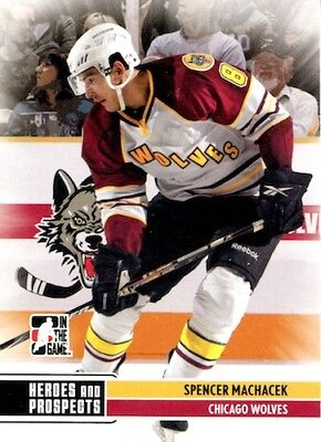 2009-10 Heroes and Prospects #58 Spencer Machacek Grizzlys Wolfsburg DEL Chicago