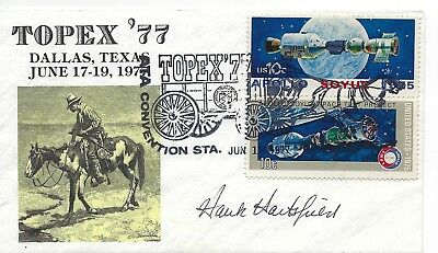 Autographed by Donald Slayton,astronaut on US Scott 1570a tied by