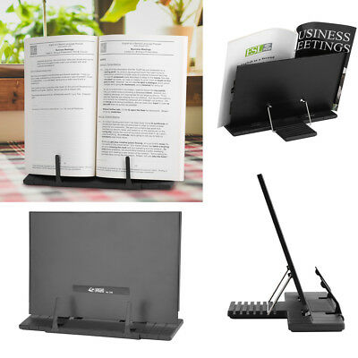 Metal black Book Reading Rest Stand Recipe Muisc Score Holder For Home/Office UK