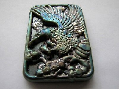 HACMint 5 oz 999+ Fine Silver FLYING EAGLE Hand Poured ANTIQUE ART BAR