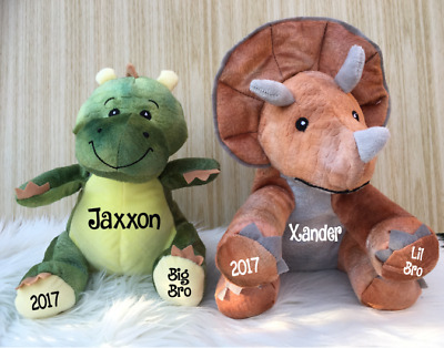 Personalised Dinosaur Plush - Toy Gift, brother present