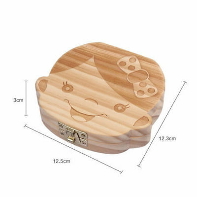 New Kids Girl Tooth Box organizer for baby Save Milk teeth Wood Storage Box