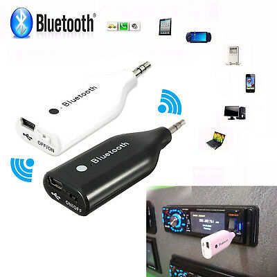 AGPtek Wireless Bluetooth 3.5mm Car Aux Audio Stereo Music Receiver Adapter+Mic