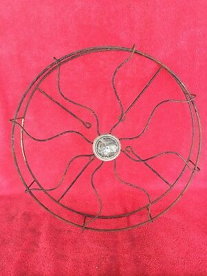 "Old Vintage Antique Emerson Sea Breeze Fan Cage & Badge for 12"" Blade Not Brass"