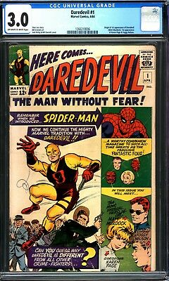 Daredevil #1 Cgc 3.0 Ow/w Pages 1964