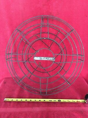 "Old Vintage Antique R&M Robbins & Myers Fan Cage & Badge for 16"" Blade Not Brass"