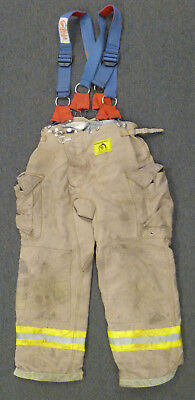 36x30 Pants Firefighter Turnout Bunker Fire Gear Morning Pride + Suspenders P916