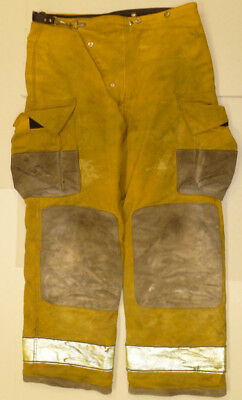 38x32 Globe Fire Wear Yellow Firefighter Pants Bunker Turnout  P876