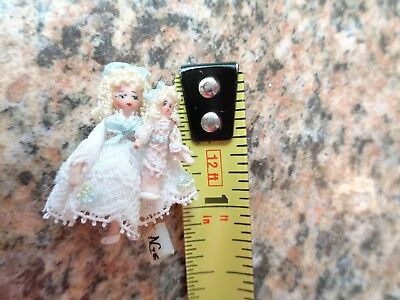 Ethel Hicks Angel Children Originals Constance and baby doll. Approx. 1 1/4 inch