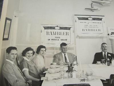 2 Vintage Photos American Rambler Automobile Top Sellers Dinner Convention 1956