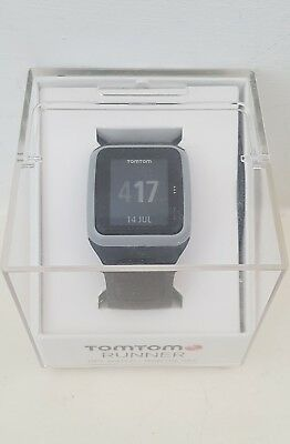 TomTom Runner GPS watch, grey and lime green, boxed, excellent condition