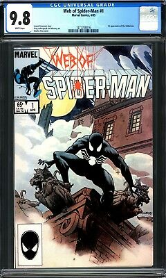 Web Of Spider-Man #1 Cgc 9.8 White Pages 1985