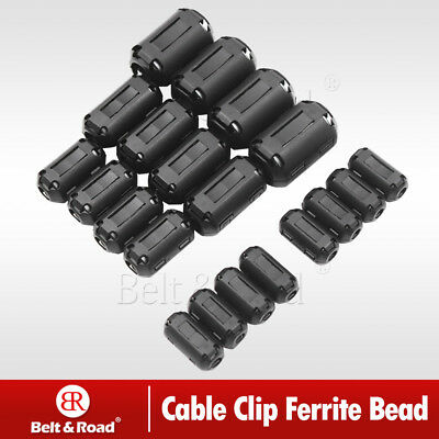 20X Cable Clips Clip-on Ferrite Ring Core RFI EMI Noise Suppressor Filter Beads
