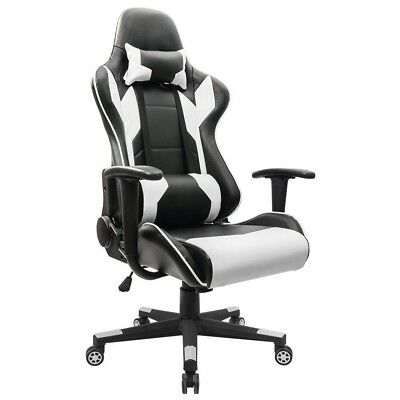 Gaming Racing Computer Chair High back Leather Office For Desk Lumbar Support