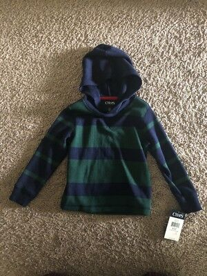 Chaps Boys Sweater Size 3/3T. Green And Blue Strips