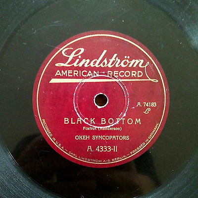 "OKEH SYNCOPATORS ""Black Bottom/I'm walking around in circles"" 78 RPM LINDSTRÖM"