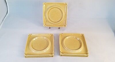 Russel Wright - 3 Square Coaster / Ashtray - Chartreuse