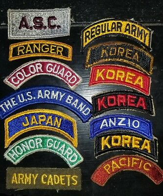 WWII US Army Great Mixed Lot of  Patch Tabs Cut Edged Priced to Sell