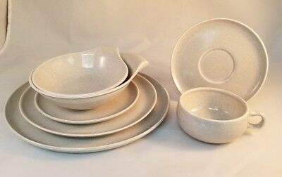 """Russel Wright """"American Modern"""" 7 piece Place Setting - Gray"""