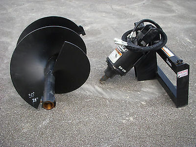 "Bobcat Skid Steer Attachment - Lowe BP210 Round Auger with 30"" Bit - Ship $199"