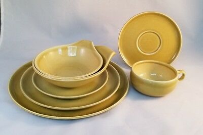 """Russel Wright """"American Modern"""" 7 piece Place Setting - Chartreuse"""