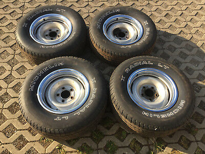 6x15 GM Rallye Wheels Stahlfelgen mit 235/75/15 ohne Chromringe Trim Rings Chevy