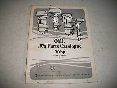 1976 Evinrude & Johnson 70 Hp Outboard Engine Illustrated  Parts Catalog