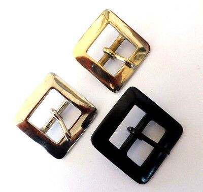 "BS70 - 1"" - 25 mm HEAVY SOLID BRASS, ANTIQUE or NICKEL BELT BUCKLE LEATHER CRAFT"