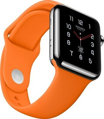 Hermès Apple Watch 42 mm Armband Orange Original Hermes Neu Sportband