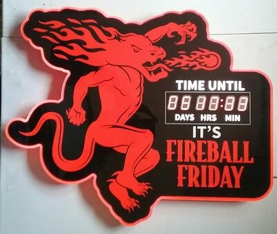 Fireball Whisky Count Down To Friday LED Sign