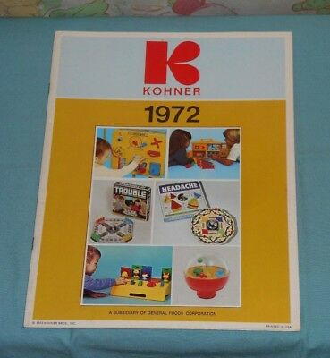1972 KOHNER CATALOG for dealers Headache Trouble toys push puppets