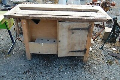 Vintage School Woodworking Bench By Emir - Collection Ll21