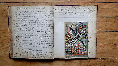 Circa 1852 Handwritten Cookbook Journal Over 100 Recipies Family History 1793