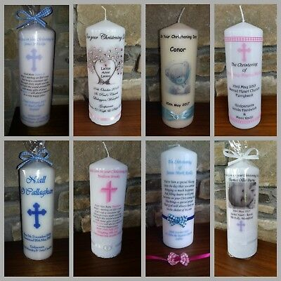 Personalisd Christening Candle, baby naming cermony, new baby candles